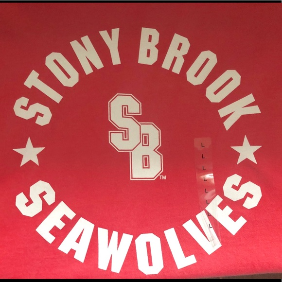 sale retailer 5dd36 f76ef Stony Brook Seawolves Brand NWT Coral T-Shirt